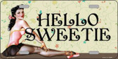 Hello Sweetie Vintage Pinup Wholesale Novelty License Plate LP-11780