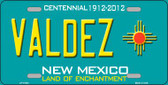 Valdez New Mexico Wholesale Novelty License Plate LP-11803