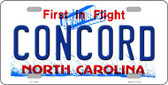 Concord North Carolina Wholesale Novelty License Plate LP-11842