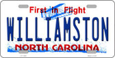 Williamston North Carolina Wholesale Novelty License Plate LP-11858
