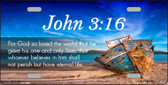 John 3 16 Beach Wholesale Novelty License Plate LP-11868