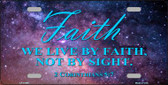 Live By Faith Wholesale Novelty License Plate LP-11869