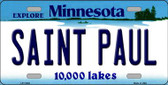 Saint Paul Minnesota State Novelty Wholesale License Plate LP-11038