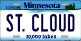 St Cloud Minnesota State Novelty Wholesale License Plate LP-11040