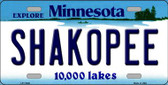 Shakopee Minnesota State Novelty Wholesale License Plate LP-11046