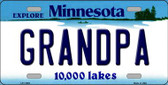 Grandpa Minnesota State Novelty Wholesale License Plate LP-11059