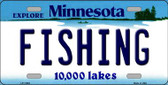 Fishing Minnesota State Novelty Wholesale License Plate LP-11065