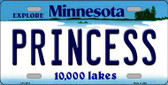 Princess Minnesota State Novelty Wholesale License Plate LP-11072