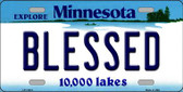 Blessed Minnesota State Novelty Wholesale License Plate LP-11074