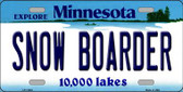 Snow Boarder Minnesota State Novelty Wholesale License Plate LP-11083