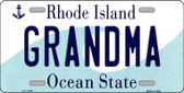 Grandma Rhode Island State License Plate Novelty Wholesale License Plate LP-11199