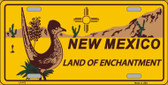 Roadrunner New Mexico Novelty Wholesale Metal License Plate LP-472