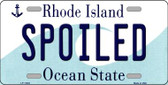 Spoiled Rhode Island State License Plate Novelty Wholesale License Plate LP-11204