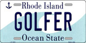Golfer Rhode Island State License Plate Novelty Wholesale License Plate LP-11216