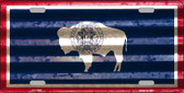 Wyoming Corrugated Flag Wholesale Novelty License Plate LP-11991
