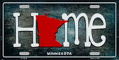 Minnesota Home State Outline Wholesale Novelty License Plate LP-12014