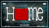 Colorado Home State Outline Wholesale Novelty Motorcycle Plate MP-11997