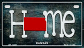 Kansas Home State Outline Wholesale Novelty Motorcycle Plate MP-12007