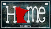 Minnesota Home State Outline Wholesale Novelty Motorcycle Plate MP-12014