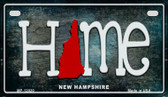New Hampshire Home State Outline Wholesale Novelty Motorcycle Plate MP-12020