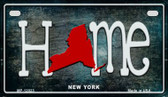 New York Home State Outline Wholesale Novelty Motorcycle Plate MP-12023