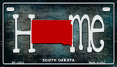South Dakota Home State Outline Wholesale Novelty Motorcycle Plate MP-12032