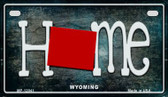 Wyoming Home State Outline Wholesale Novelty Motorcycle Plate MP-12041