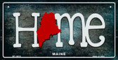 Maine Home State Outline Wholesale Novelty Bicycle Plate BP-12010