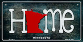 Minnesota Home State Outline Wholesale Novelty Bicycle Plate BP-12014