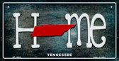 Tennessee Home State Outline Wholesale Novelty Bicycle Plate BP-12033