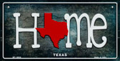 Texas Home State Outline Wholesale Novelty Bicycle Plate BP-12034