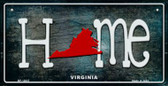 Virginia Home State Outline Wholesale Novelty Bicycle Plate BP-12037