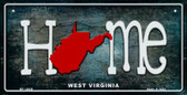 West Virginia Home State Outline Wholesale Novelty Bicycle Plate BP-12039