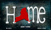 New York Home State Outline Wholesale Novelty Magnet M-12023