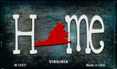 Virginia Home State Outline Wholesale Novelty Magnet M-12037