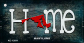 Maryland Home State Outline Wholesale Novelty Key Chain KC-12011