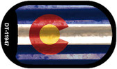 Colorado Corrugated Flag Wholesale Novelty Dog Tag Necklace DT-11947