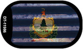 Vermont Corrugated Flag Wholesale Novelty Dog Tag Necklace DT-11986