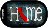 California Home State Outline Wholesale Novelty Dog Tag Necklace DT-11996
