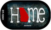 Georgia Home State Outline Wholesale Novelty Dog Tag Necklace DT-12001
