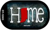 Indiana Home State Outline Wholesale Novelty Dog Tag Necklace DT-12005