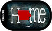Iowa Home State Outline Wholesale Novelty Dog Tag Necklace DT-12006
