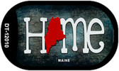 Maine Home State Outline Wholesale Novelty Dog Tag Necklace DT-12010