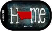 Montana Home State Outline Wholesale Novelty Dog Tag Necklace DT-12017