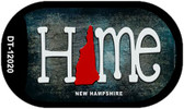New Hampshire Home State Outline Wholesale Novelty Dog Tag Necklace DT-12020