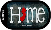 New Jersey Home State Outline Wholesale Novelty Dog Tag Necklace DT-12021