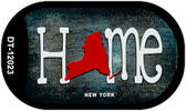 New York Home State Outline Wholesale Novelty Dog Tag Necklace DT-12023