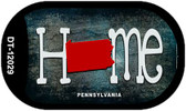 Pennsylvania Home State Outline Wholesale Novelty Dog Tag Necklace DT-12029