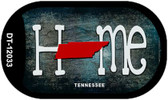 Tennessee Home State Outline Wholesale Novelty Dog Tag Necklace DT-12033