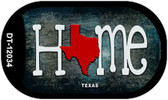 Texas Home State Outline Wholesale Novelty Dog Tag Necklace DT-12034